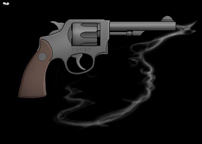 Image result for trump smoking gun cartoon