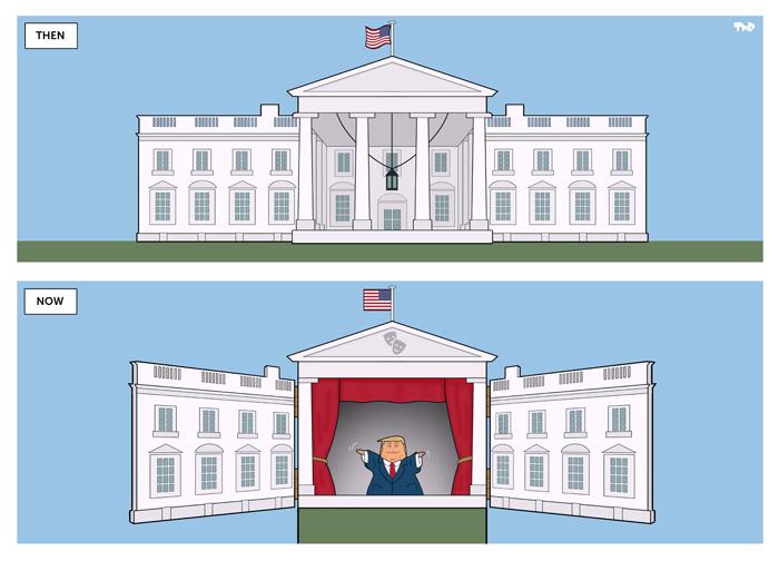 170614 Trump puppetshow