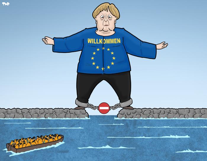 180628 Merkel & migrants